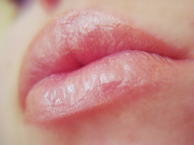 Beautiful Russian lady`s lips deserve compliments