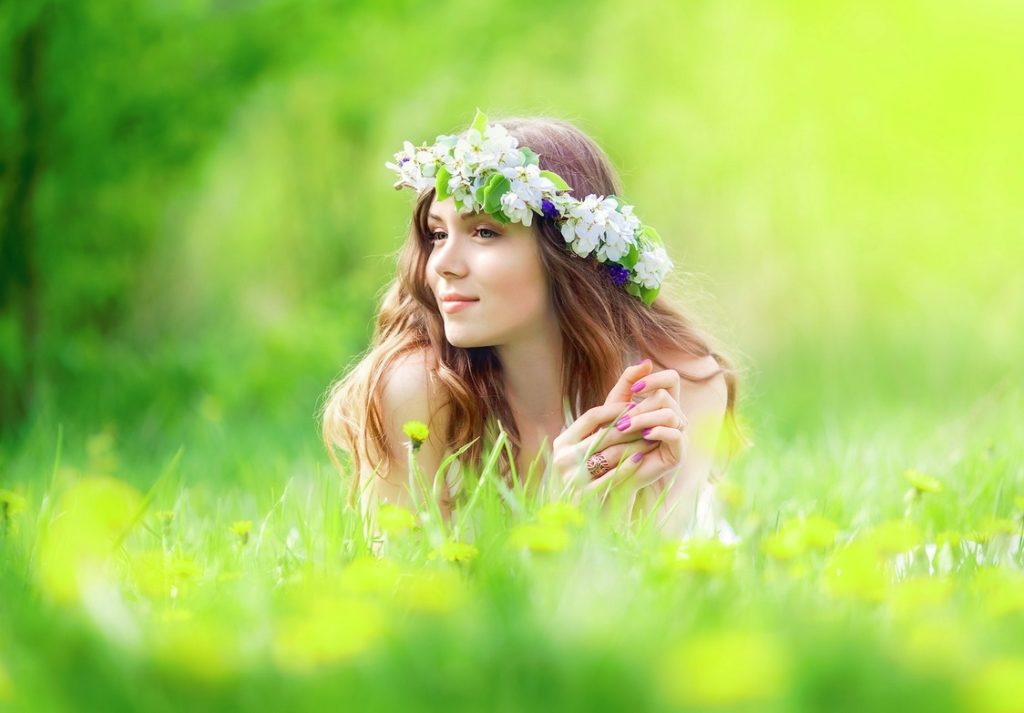Wild flowers for romantic Russian woman