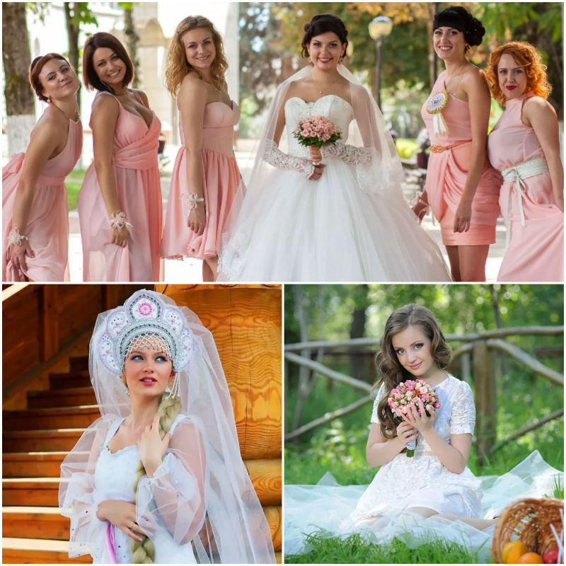 Single Russian women at a wedding party