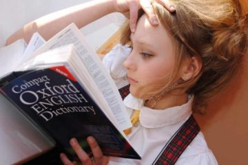 Picture of woman studying English